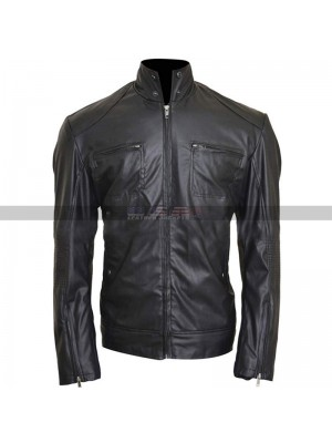 Men's Song Heart Attack Enrique Iglesias Black Leather Jacket