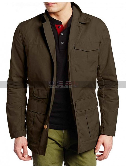 Izombie Ravi Chakrabarti Brown Cotton Jacket