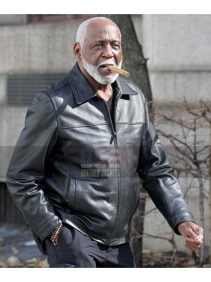 Shaft Richard Roundtree Black Leather Jacket