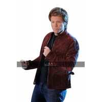 Rock Star Jon Bon Jovi Maroon Suede Leather Jacket