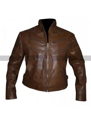 Arrow Season 2 Identity Ben Turner Brown Leather Jacket
