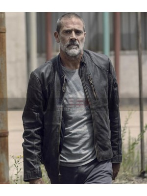 The Walking Dead Season 9 Negan Black Jacket