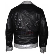 Kiss Starchild Paul Stanley Metal Alive Studs Black Leather Jacket