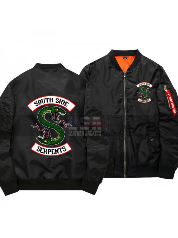 52d94f374eb Riverdale South Side Serpents MA1 Flight Bomber Jacket