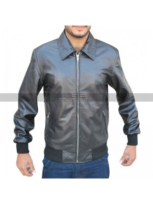 Arrow S3 Oliver Queen Stephen Amell Bomber Leather Jacket