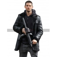 Ben Barnes Shearling Jacket The Punisher S2 Billy Russo Black Coat