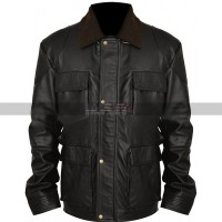 Bane The Dark Knight Rises Black Leather Jacket