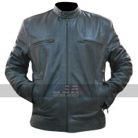 WWE Wrestler Dean Ambrose Grey Leather Jacket