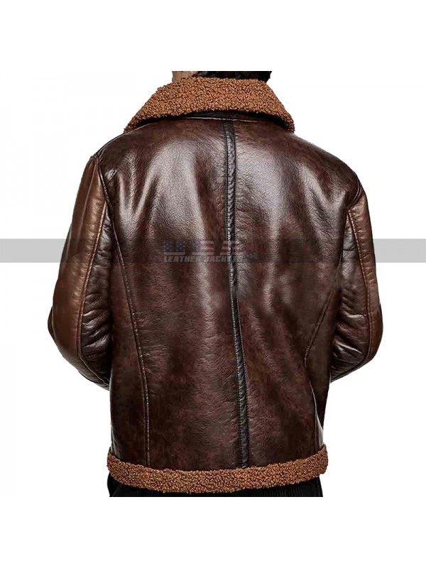Wwe Dean Ambrose Brown Shearling Jacket
