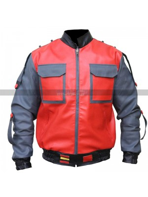 Back to the Future Part II Marty McFly Leather Jacket