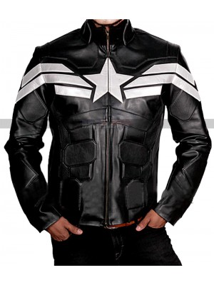 Captain America Winter Soldier Chris Evans Leather Jacket