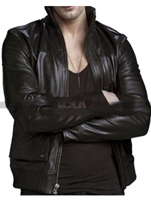 True Blood Eric Northman Black Leather Jacket