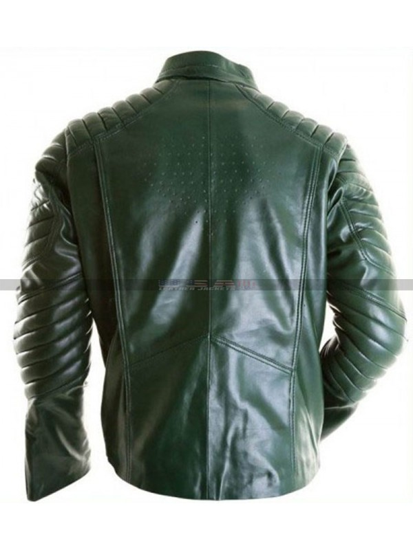 Tom Welling Superman Smallville Green Leather Jacket