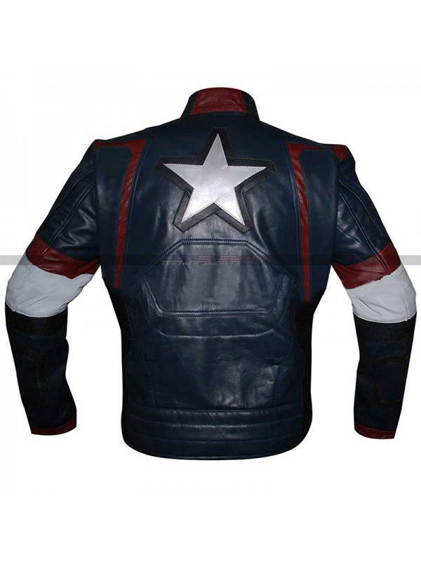 Steve Rogers Avengers Age Of Ultron Genuine Costume Jacket