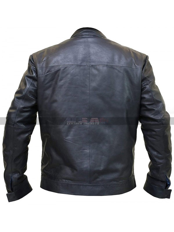 Tom Cruise Mission Impossible 6 Ethan Hunt Blue Leather Jacket