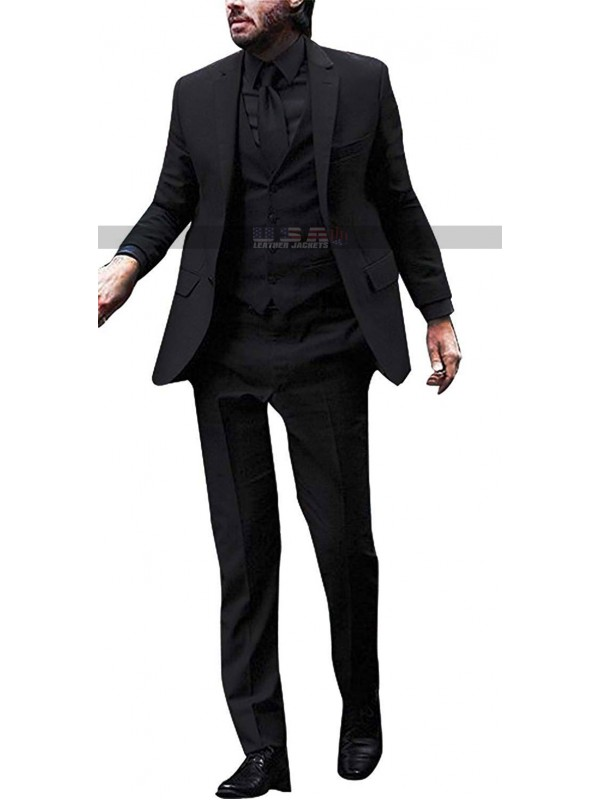 Keanu Reeves John Wick: Chapter 3 Parabellum (Three Piece) Black Suit