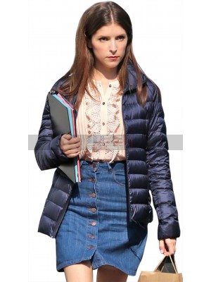 A Simple Favor Anna Kendrick Blue Bomber Parka Jacket