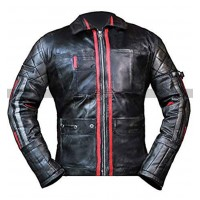 Alita Battle Angel Keean Johnson Biker Black Leather Jacket