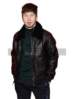 American Animals Barry Keoghan Fur Collar Leather Jacket