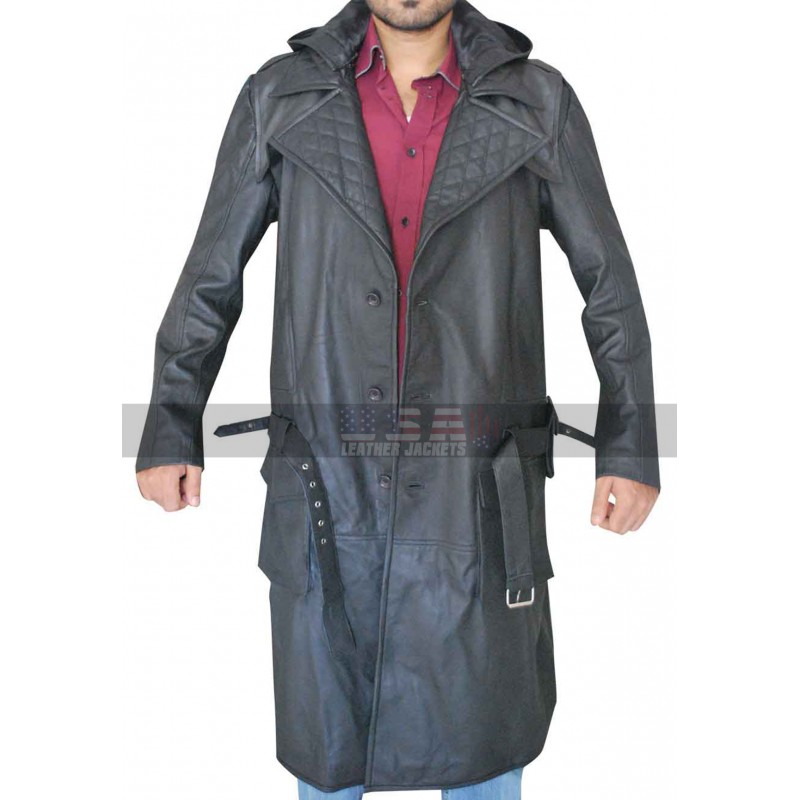 Assassin's Creed Syndicate Jacob Frye Black Leather Coat
