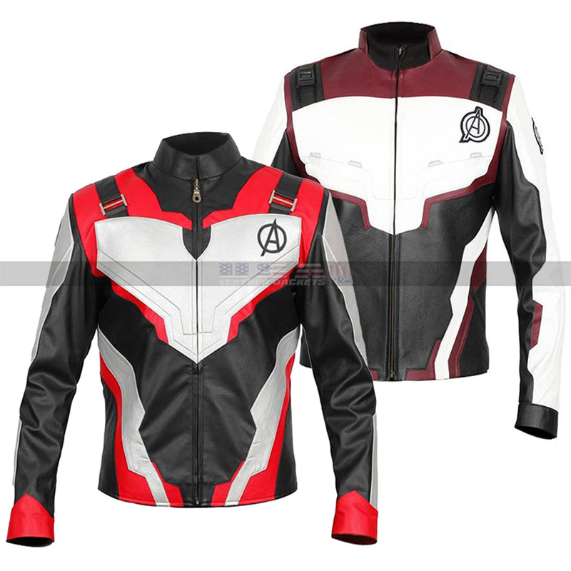 Avengers Endgame Realm Quantum Cosplay Leather Jacket