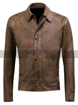 Avengers Age of Ultron Chris Evans Classic Blouson Brown Leather Jacket