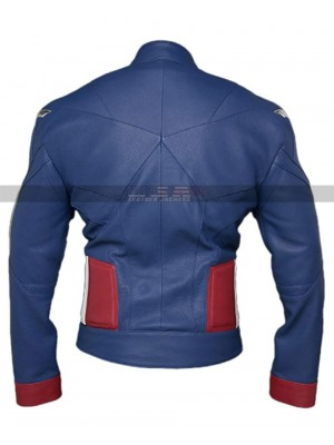Avengers Endgame Captain America Costume Leather Jacket