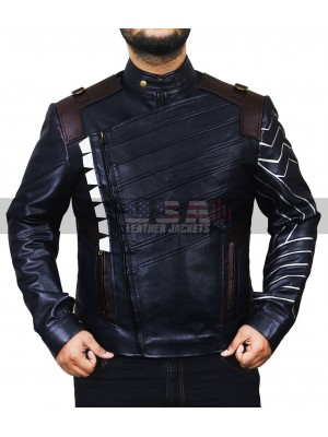 Avengers Infinity War Bucky Barnes Costume Leather Jacket