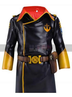 Space Battleship Yamato Juzo Okita Costume Leather Coat