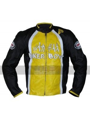 Derek Luke Biker Boyz Yellow Motorcycle Leather Jacket