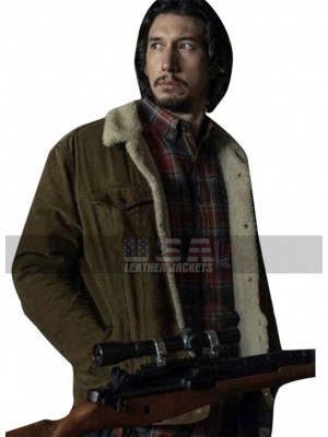 BlacKkKlansman Adam Driver Flip Zimmerman Fur Shearling Cotton Jacket