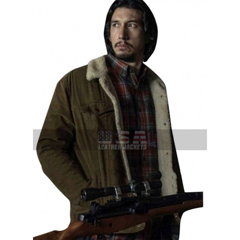BlacKkKlansman Adam Driver Flip Zimmerman Cotton Jacket