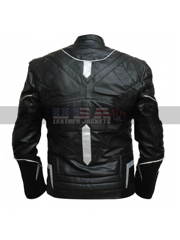 Black Panther T'Challa Black Costume Leather Jacket