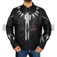 Avengers Infinity War Black Panther Costume Black Leather Jacket