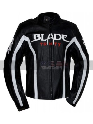 Wesley Snipes (Blade) Trinity Biker Leather Jacket