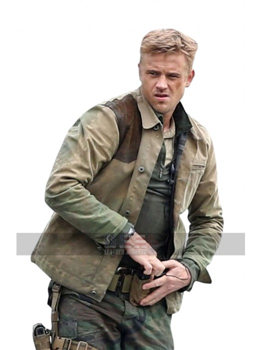 The Predator Boyd Holbrook (Quinn McKenna) Brown Leather Jacket