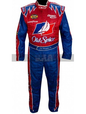 Talladega Nights John C. Reilly Old Spice Driver Racing Leather Costume
