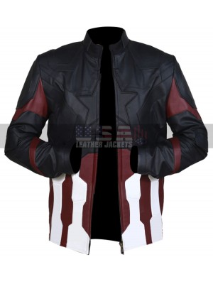 Captain America Avengers Infinity War Costume Leather Jacket