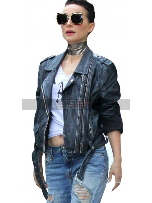 Natalie Portman Vox Lux Slimfit Motorcycle Leather Jacket
