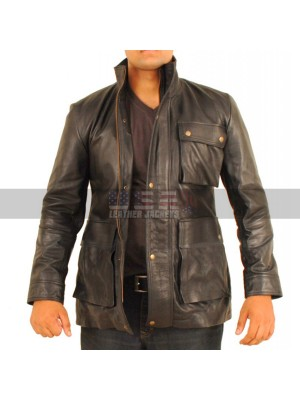 Star Trek Into the Darkness Chris Pine Black Leather Jacket