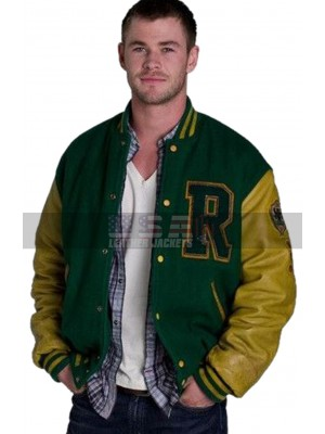 Cabin in the Woods Curt Vaughan R Logo Varsity Letterman Bomber Jacket