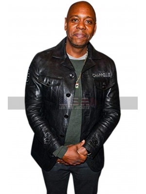 A Star is Born Dave Chappelle Black Leather Jacket