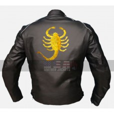 Drive Scorpion Ryan Gosling Biker Black Leather Jacket