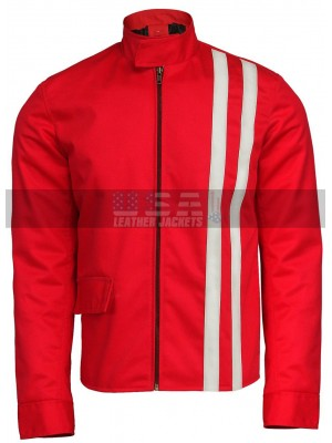 Elvis Presley Speedway Vintage Classic Retro White Stripes Red Jacket