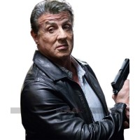 Escape Plan The Extractors 2 Sylvester Stallone Black Leather Jacket