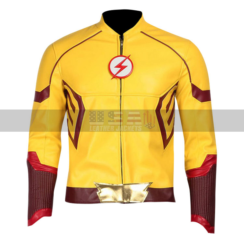 The Flash Keiynan Lonsdale (Kid Flash) Yellow Costume Leather Jacket