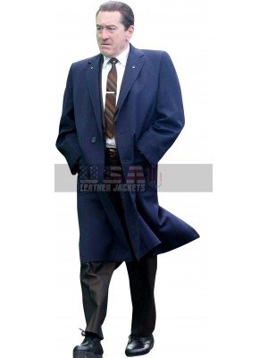 The Irishman Robert De Niro Blue Trench Coat