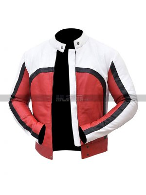 Men's Freddie Mercury Bohemian Rhapsody Concert Red & White Leather Jacket