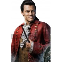 Luke Evans (Gaston) Beauty And The Beast Red Leather Coat