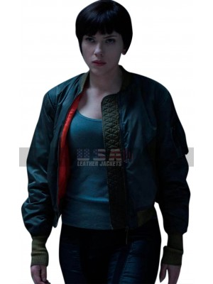Ghost in the Shell Scarlett Johansson (Major Mila Killian) Satin Jacket